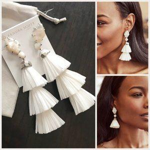 Kendra Scott Silver & White Denise Earrings